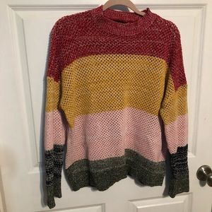 Zaful Color Block Knit Cozy Sweater